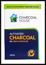 Charcoal Capsules - (Vegan) 6 Blister Cards (60)